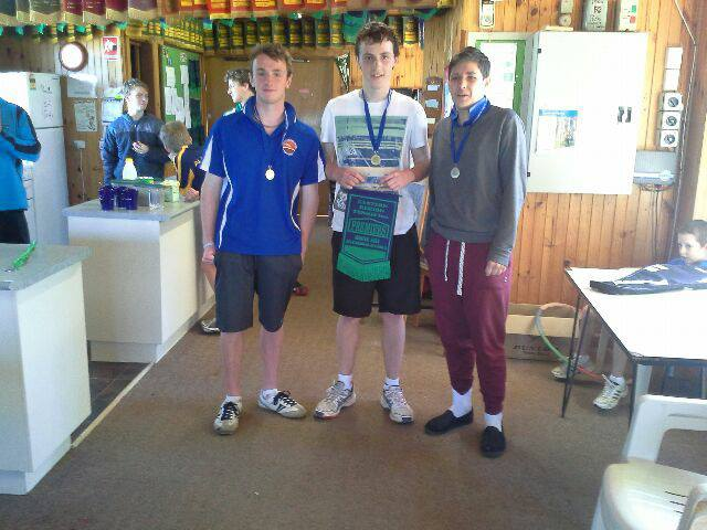 Rubbers 5 champs with Nick Duguid and Jack Blackberry.